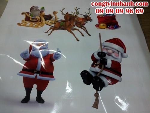 In decal dán kính hình họa tiết Giáng Sinh đa dạng, ngộ nghĩnh, đáng yêu