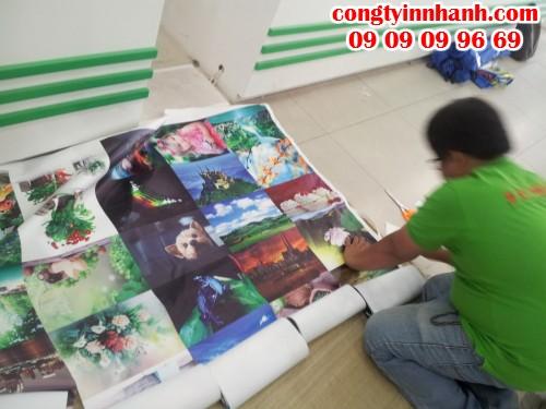 Gia công thành phẩm in tranh canvas trực tiếp từ nhân viên Công ty In Nhanh