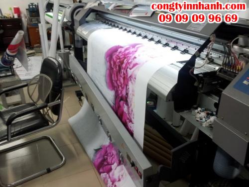 Trực tiếp in nhanh tranh từ vải silk in mực nước/mực dầ bằng máy in Mimaki Nhật Bản cho bản in tuyệt đẹp, bền màu