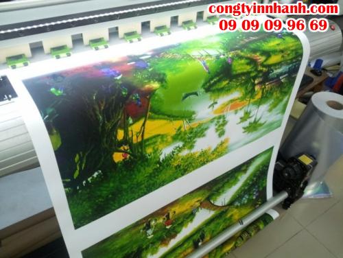 Tranh phong thủy, tranh cảnh làng quê,... in với chất liệu canvas, mực nước. In số lượng lớn tại Công Ty In Nhanh